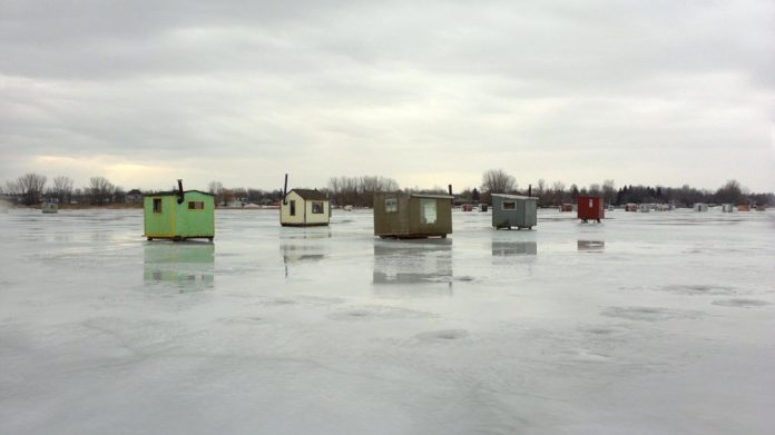 Ice Fishing Shantie Removal Time is Nearing