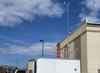 DNR's Mobile Air Monitoring Lab (MAML) stationed along the Lake Michigan shoreline in Sheboygan County. Photo credit: WI DNR | Outdoor Newspaper