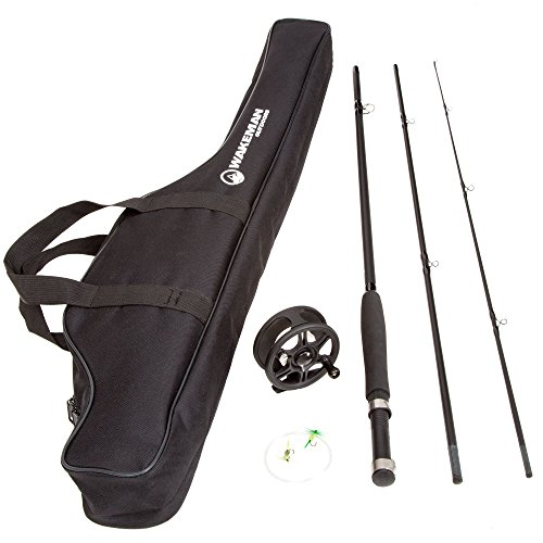 Wakeman Charter Series Fly Fishing Combo with Carry Bag - Black - 80-FSH8000