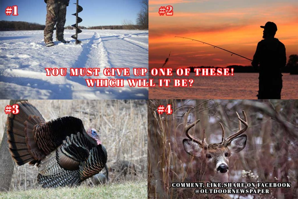 Deer Hunting, Ice Fishing, Fishing, Turkey Hunting, Give Up One - Outdoor Newspaper