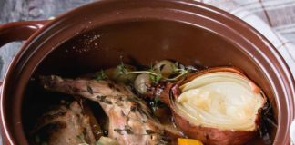 Wild Game Recipe: Cooked Rabbit Stew with Rabbit Leg Meat